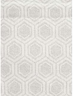 Nido Notte Italia Luxury Fringed Decorative Oversized Throw Blanket Toss Repeating Geometric Geo Pattern in Shades of Gray