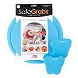 Safe Grabs Safe Pack Bundle: Original Multi-Purpose Silicone Microwave Mat + NEW Butterfly Mitts | As Seen on Shark Tank, GMA & The View (BPA Free, Heat Resistant, Dishwasher Safe), Ocean Blue