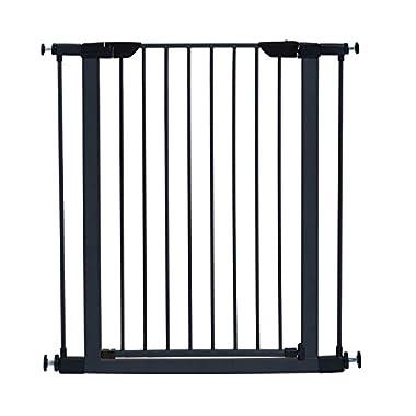 MidWest 39  High Walk-thru Steel Pet Gate, 29  - 38  Wide in Textured Graphite