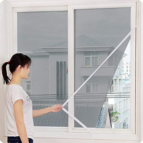 LianMengMVP Insektenschutz Fliegengitter Plisseetür 130x150cm, Insektenschutz Fenster Tape Klebemontage ohne Bohren und Schrauben individuell für die Balkon Fenster und Terrassen Fenster
