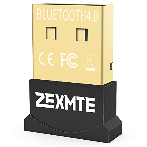 Bluetooth Adapter USB 4.0 CSR, ZEXMTE Bluetooth Dongle Adapter Wireless Bluetooth Transmitter Receiver for Laptop PC Computer, Support Windows 10/8/7/Vista/XP, Mouse, Keyboard and Headset