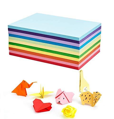 100 Blatt buntes DIN - A4 190g/m² Set aus 20 Farben, bunte Blätter in Bastel-Bogen farbig, Zubehör zum Basteln, farbiges Material, Kinder & DIY Bogen