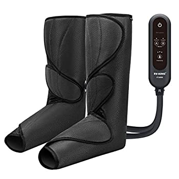 FIT KING Leg Air Massager for Circulation and Relaxation Foot and Calf Massage with Handheld Controller 3 Intensities 2 Modes with 2 Extensions