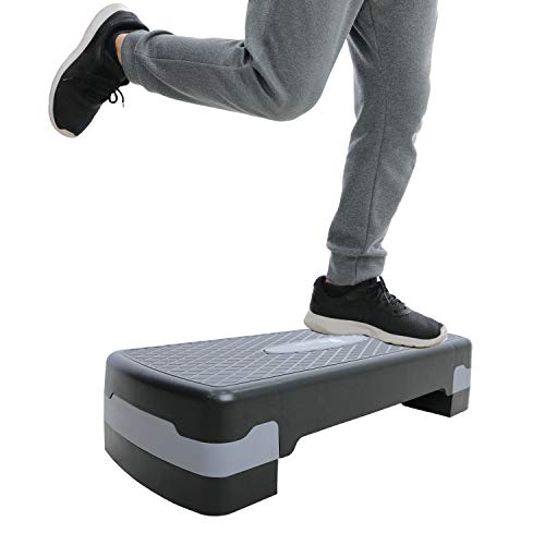 【BE-style】踏み台昇降 ステップ台 エクササイズ ステップボード 高さ調節可 天板底面すべり止め加工 トレーニングガイド付