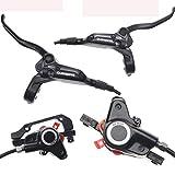 AIFCX Sistema di Freno a Disco idraulico per Mountain Bike da Mountain Bike, pinze anteriori e Posteriori con Leve, tubi e raccordi, 2 rotori e 2 Set di bulloni,Black-M