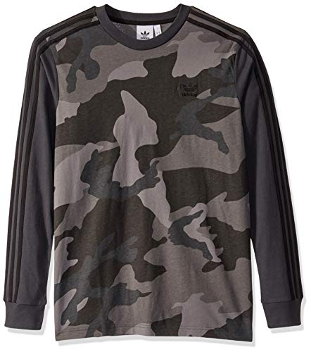 adidas Originals Men's Camo Long-Sleeve Tee, multi/carbon, Large