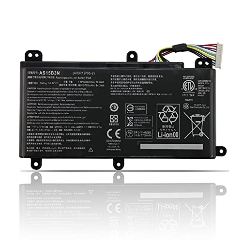 TIIANTE AS15B3N Laptop Battery for Acer Predator 15 G9-591 G9-591G G9-592 G9-592G G9-593 Predator 17 G5-793 G9-791 G9-791G G9-792 G9-792G G9-793 G9-973 17X GX-791 GX-792 21X GX21-71 G9000 4ICR19/66-2