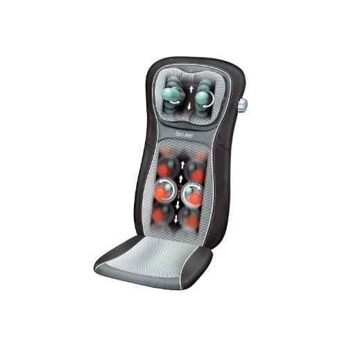 Beurer MG 260 Shiatsu-Sitzauflage (Rückenmassage, punktuelle Massage, Roll-Massage sowie zuschaltbare Licht- und Wärmefunktion, schwarz)