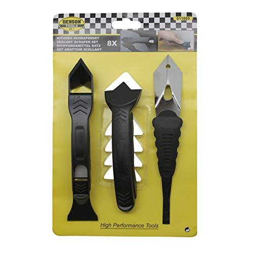 Benson Tools 11889 - Juego de extractor de juntas y raspador de silicona