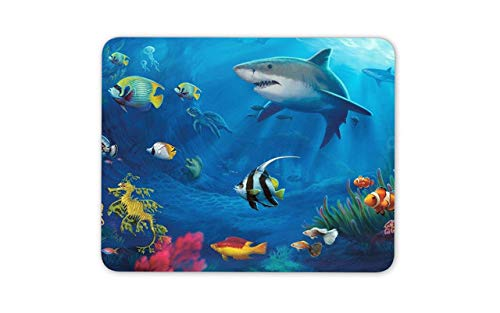 Underwater World Mouse Pad Mat - Shark Fish Diving Coral Computer PC Gift -8080