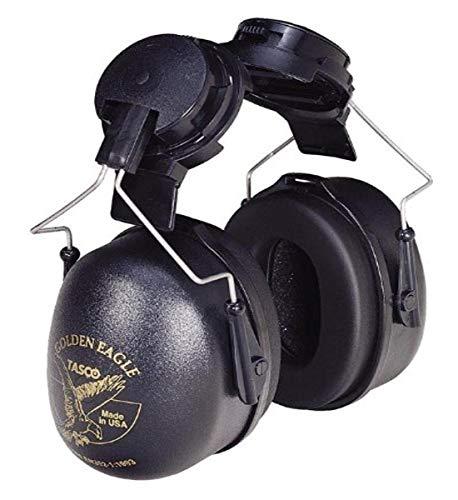 Tasco 2951 Golden Eagle Cap Mounted Earmuffs, NRR=26, Black