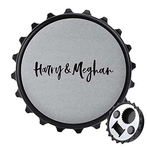 Harry and Meghan Royal - Abrebotellas de boda con imán trasero para...