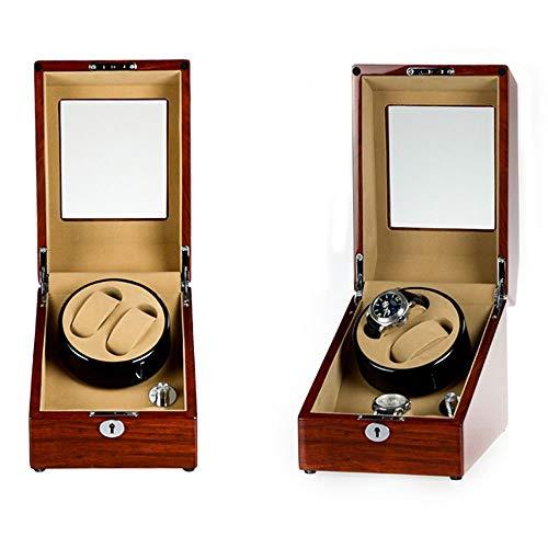 Caja Giratoria para Relojes 100% Hecho a Mano 2 + 3 enrollador de Reloj, Caja de Madera Doble de Lujo del enrollador de Reloj Caja de Almacenamiento de Reloj