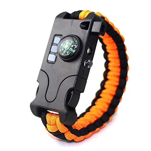 Infrarood SOS survival armband oplaadbaar geweven LED-zaklamp kompas voor armband (5)