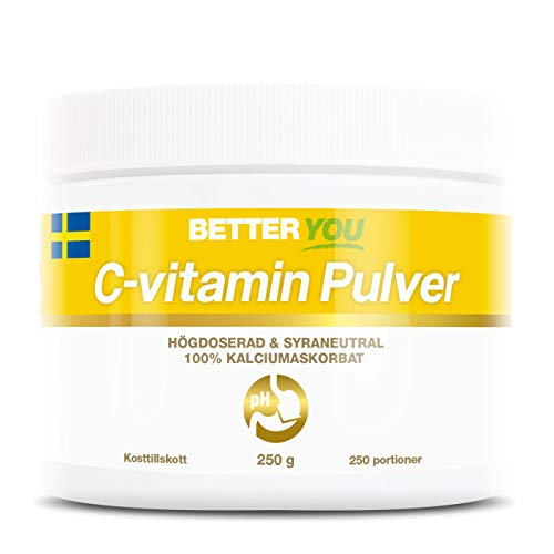BETTER YOU Buffered Vitamin C Powder 250 Gram - 250 Servings