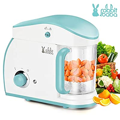 Baby Food Maker, Fashion Look Baby Food Processor with Touch Screen Control, Quick Clean Multifunctional Baby Food Blender, Steamer, Cooker, Defrost for Infants and Toddlers Food (Light blue)