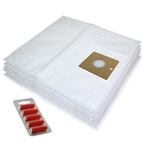 SPARES2GO Microvezeldoekzakken voor Nilfisk Actie A100 A200 82215200 Stofzuiger (Pak van 5 + 5 Fresheners)