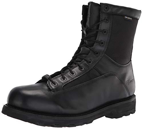 """Bates Men's 8"""" DuraShock Lace-to-Toe Waterproof Work Boot, Black, 9 M US"""