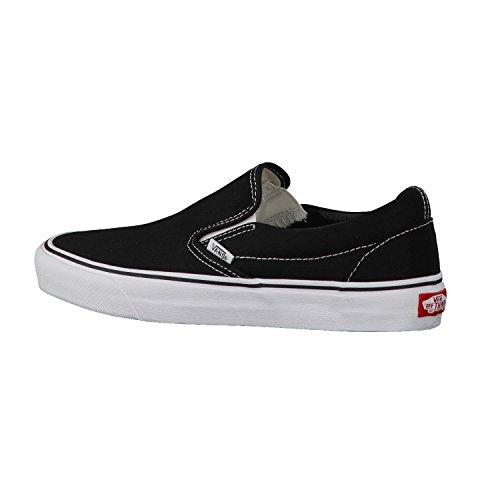 Vans Classic Slip-On Canvas, Mixte Adulte Noir (Black Shoe White Sole) 39