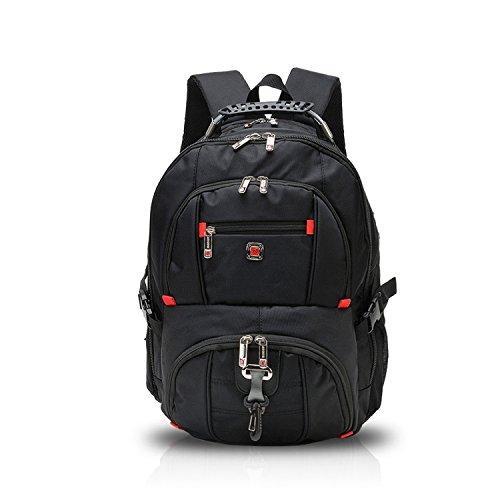 FANDARE Alpinista All'aperto Premium Zaino Computer Portatile Laptop 10''-15.6'' Viaggi School Scuola Escursionismo Campeggio Borsa Alta Capacità Leggera Poliestere Nero
