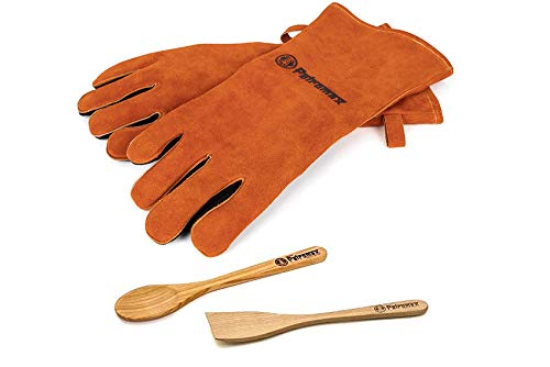 Petromax Zubehör Set Safty-IV Aramid Handschuhe + Kochlöffel + Spachtel
