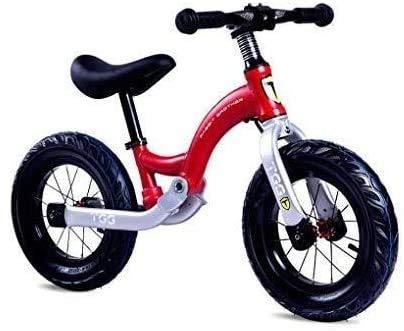 Cómodo Balance de Bicicletas, n-Pedal Aprender a Montar con Altura Ajustable con neumáticos inflables Anillo de Bell y el Soporte for Niñas Niños de 2 a 6 años Pre Caminando 12 Pulgadas