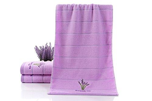 Accessoires salle de bain ZHFC ZHFC pur coton éponge new parfumé à la lavande don serviette creative serviette pur coton don serviette white violet 34 * 75 1,violet