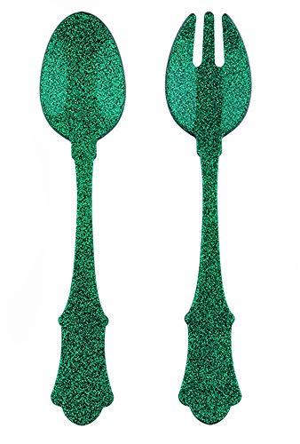 Sabre Flatware Salad Set Old Fashion Glitter Green (2pcs) Product Name