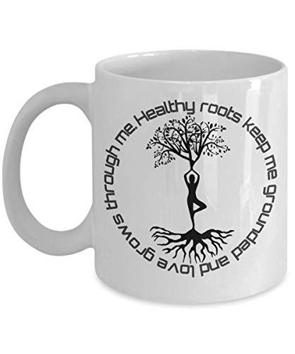 Tree of Life mugAffirmations Mug I am Mug Healthy Roots Keep me Grounded and Love - Grows Through me - Affirmation I Am - Ceramic Mug 11oz
