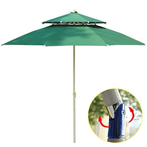 ZXL Ombrellone da Giardino inclinabile Ø2,3 m, Doppio ombrellone a baldacchino a sbalzo a baldacchino Parasole da Giardino con Manico a manovella inclinabile per Esterno/Giardini/Balcone/o