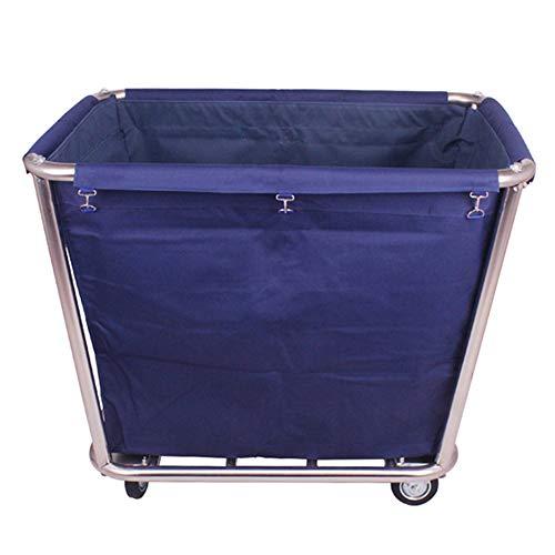 Carro de lavandería YXX Carro Utilitario Clasificador De Ropa Grande con Bolsa Desmontable, Carro De Servicio De Limpieza para Trabajo Pesado sobre Ruedas para Hotel Industrial (Color : Blue Cart)