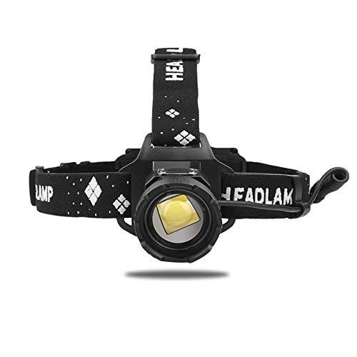 Linterna Frontal LED Recargable, WESLITE XHP99 Linterna Frontal de Alta Potencia 12000 Lúmenes Luz Frontal Cabeza Impermeable 5 Modos con Zoom para Casco, Trabajo, Reparación de Automóviles, Camping