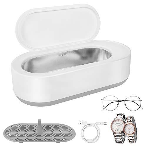 Jooheli USB Ultraschallreinigungsgerät, Ultraschallreiniger Reinigingsgerät Ultraschallgerät mit Reinigungskorb Ultraschallbad für Reinigung von Brillen Schmuck Uhren Zahnersatz