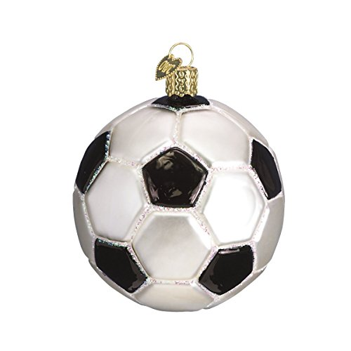 Old World Christmas Soccer Ball Glass Blown Ornaments for Christmas Tree