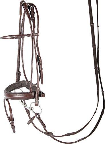 Harry\'s Horse Hoofdstel Luxe, rondgenaaid, Farbe:braun, Größe:cob