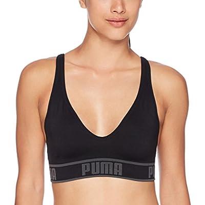 PUMA Women's Women's Solstice Seamless Sports Bra Bra, Black, L