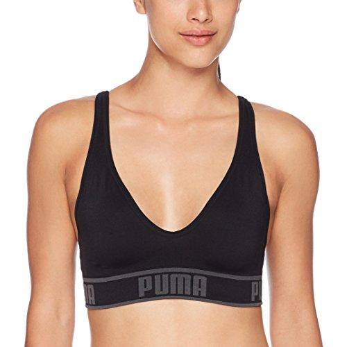 PUMA Women's Women's Solstice Seamless Sports Bra Bra, Black, M
