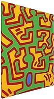 Keith Haring アートパネル インテリア アートポスター 壁掛け絵画 インテリア 絵画 アートフレーム モダン キャンバス絵画 装飾画 部屋飾り 現代 木枠セット