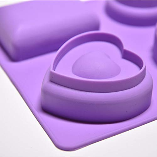 4 Cavity Plain Basic Rectangle Silicone Mould for Homemade Craft Soap Mold Home & Garden Cake Mould...
