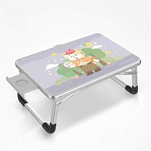 JIAX vouwtafel klein, gepersonaliseerd laptopbureau, opvouwbaar lui bureaubed, notitieboekje, binnen- en buitenstudietafel