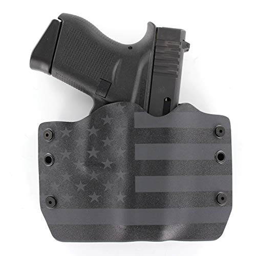 OWB Holster - USA Stealth Black (Right-Hand, Fits Glock 43)