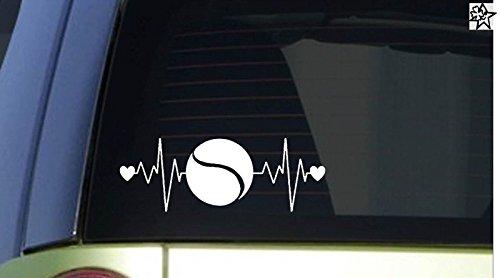Herzschlag Aufkleber Tennis 20cm Sticker Herz Fan Hobby Leidenschaft Liebe für Auto Autoaufkleber