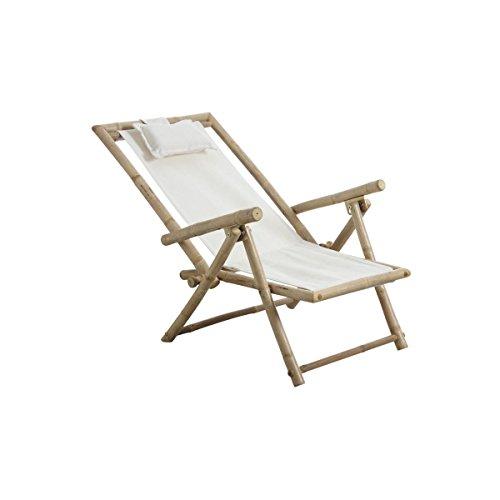 Chaise relax pliante en bambou