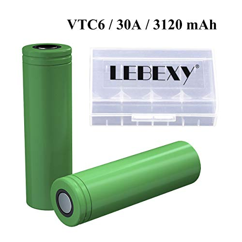 LEBEXY VTC6 Akku für E-Zigarette 3120mAh 30Amp Akkus