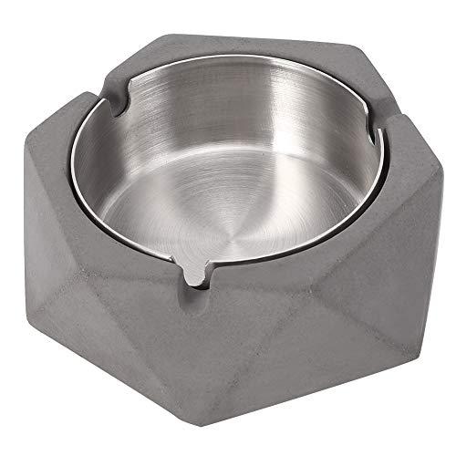Astibym Sala de Estar geométrica del cenicero del Cemento de la Forma del ladrillo del Estilo Industrial para el hogar(Gris Oscuro)