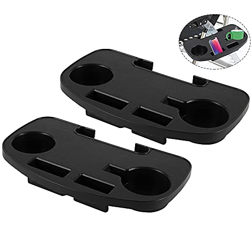 2 X Clip On Side Table Tray Cup Holder Phone Tray For Zero Gravity Sun Lounger Camping Chair Fishing Chairs Recliner Accessories (2pcs Style3)