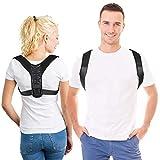 Sports Geradehalter zur Haltungskorrektur für Mann und Frau mit 2 Tragevarianten, ideal zur Therapie für haltungsbedingte Nacken, Schulterschmerzen, einstellbare Länge, Größe M -