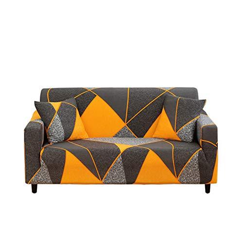 HOTNIU Elastischer Sesselbezug Stretch Sofa-Überwürfe Sofaüberzug Sesselhusse Sofabezug Sofa Abdeckung Hussen für Couch Sessel in Verschiedene Größe und Farbe (3 Sitzer, Muster JHPK)