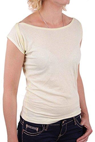 Diesel Camiseta De Mujer Camiseta T-Shirt Cherity Amarillo #13 - algodón, Amarillo Limón, % algodón % poliéster, mujer, M, amarillo limón