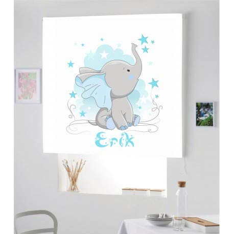 Estor Iroa Digital Personalizable Elefante Erick ¡ESTORES ENROLLABLES TRANSLUCIDO O Screen Personalizado...